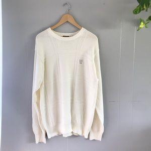 IZOD} Cream Knit Sweater